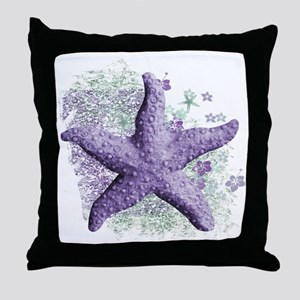 Timeless Purple Starfish Throw Pillow