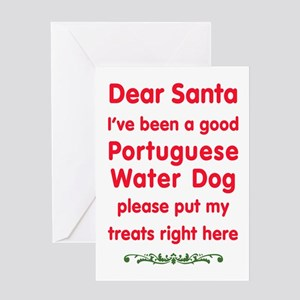 Good Portuguese Water Dog Greeting Cards