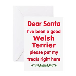 Welsh terrier christmas greeting cards cafepress m4hsunfo