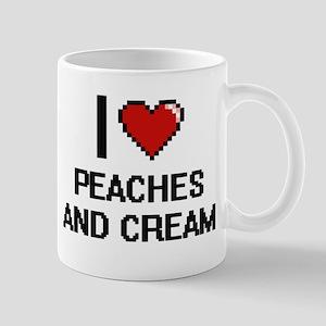 I love Peaches And Cream digital design Mugs