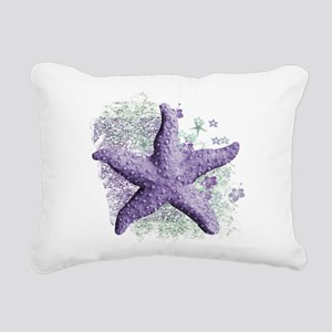 Timeless Purple Starfish Rectangular Canvas Pillow