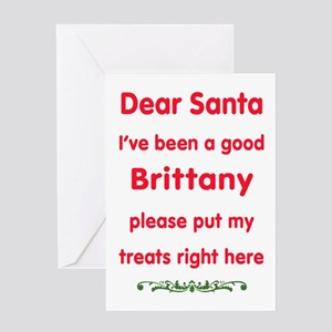 Good Brittany Greeting Cards
