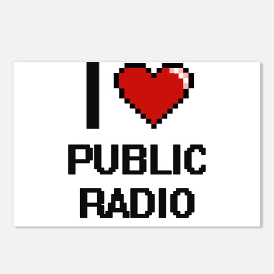 I love Public Radio digit Postcards (Package of 8)