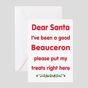 Good Beauceron Greeting Cards