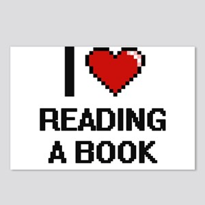I love Reading A Book dig Postcards (Package of 8)