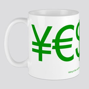 Yen Euro Dollar Mug