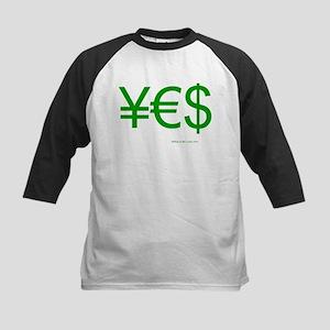 Yen Euro Dollar Kids Baseball Jersey