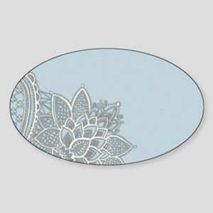 white lace pastel blue Sticker