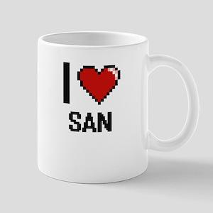 I love San digital design Mugs