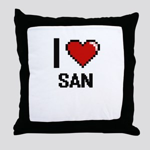 I love San digital design Throw Pillow
