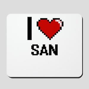 I love San digital design Mousepad