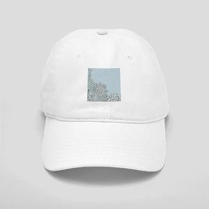 white lace pastel blue Cap