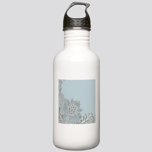 white lace pastel blue Stainless Water Bottle 1.0L
