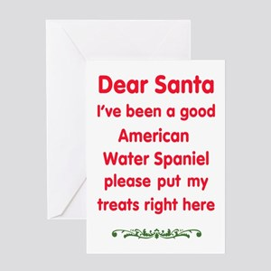 Good American Water Spaniel Greeting Cards