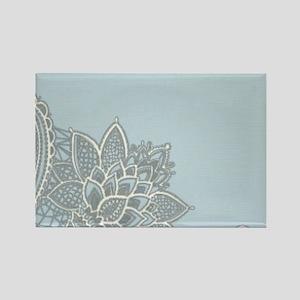 white lace pastel blue Magnets