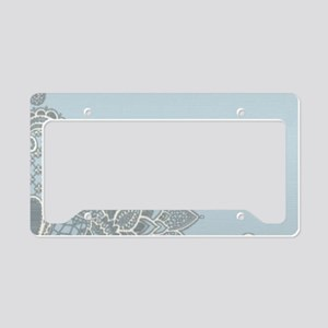white lace pastel blue License Plate Holder