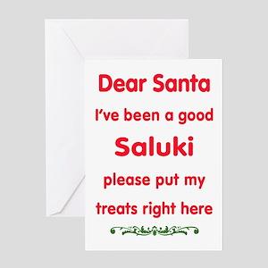 Good Saluki Greeting Cards