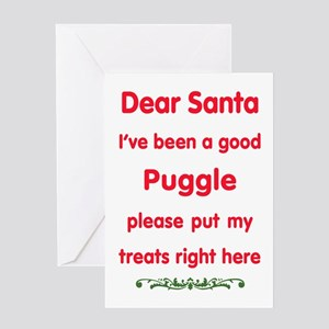 Good Puggle Greeting Cards