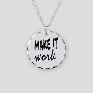 Make it Work Necklace Circle Charm