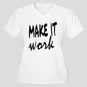 Make it Work Women's Plus Size V-Neck T-Shirt