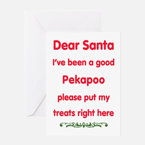 Good Pekapoo Greeting Cards
