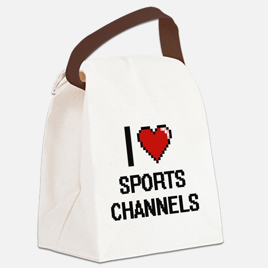 I love Sports Channels digital de Canvas Lunch Bag