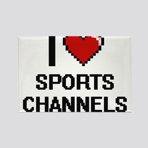 I love Sports Channels digital design Magnets