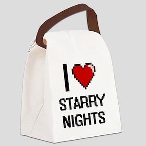 I love Starry Nights digital desi Canvas Lunch Bag