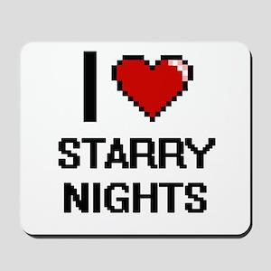 I love Starry Nights digital design Mousepad