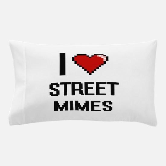 I love Street Mimes digital design Pillow Case