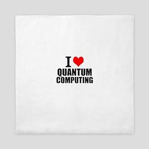 I Love Quantum Computing Queen Duvet