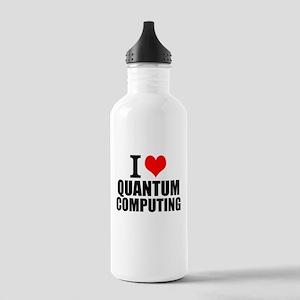 I Love Quantum Computing Water Bottle