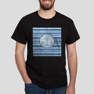 blue anchor nautical stripes T-Shirt