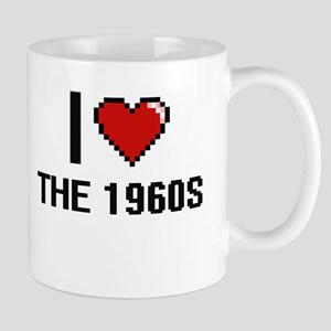 I love The 1960S digital design Mugs
