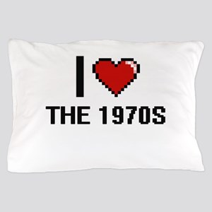 I love The 1970S digital design Pillow Case