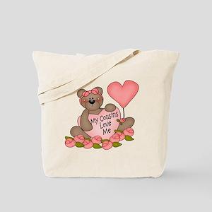 My Cousins Love Me CUTE Bear Tote Bag