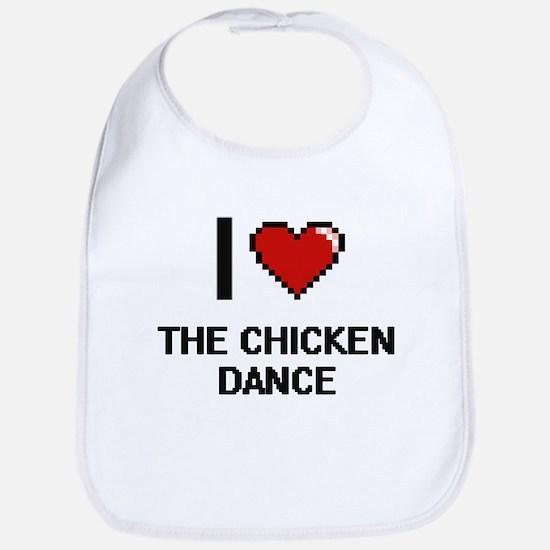 I love The Chicken Dance digital design Bib
