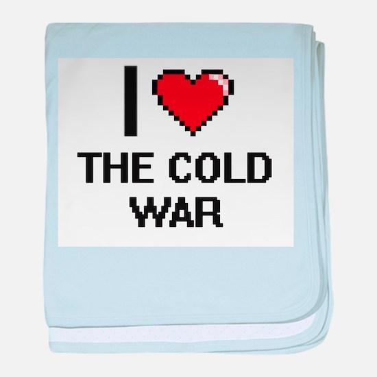 I love The Cold War digital design baby blanket