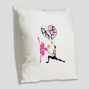 BALLET DANCE Burlap Throw Pillow
