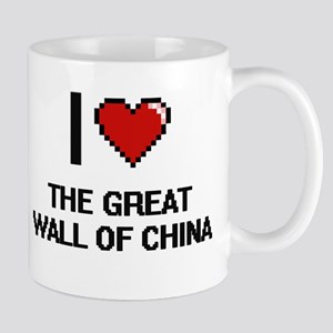 I love The Great Wall Of China digital design Mugs