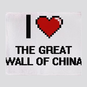 I love The Great Wall Of China digit Throw Blanket