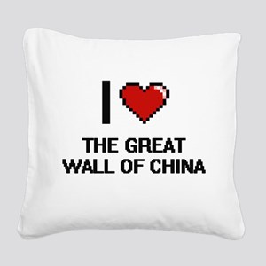 I love The Great Wall Of Chin Square Canvas Pillow