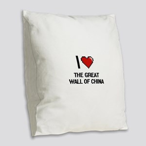 I love The Great Wall Of China Burlap Throw Pillow
