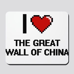 I love The Great Wall Of China digital d Mousepad