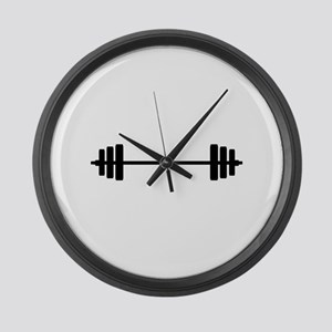 WEIGHTS Large Wall Clock