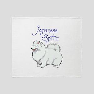 JAPANESE SPITZ Throw Blanket