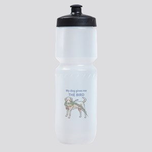 DOG GIVES ME THE BIRD Sports Bottle