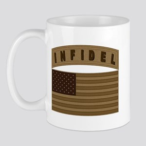 Desert US Infidel Patch Mug