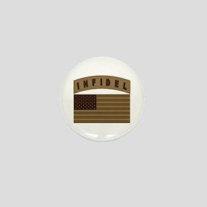 Desert US Infidel Patch Mini Button