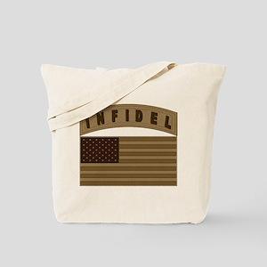 Desert US Infidel Patch Tote Bag